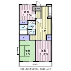 サンハイム笹堀5階Fの間取り画像