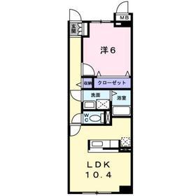スプリングⅡ3階Fの間取り画像