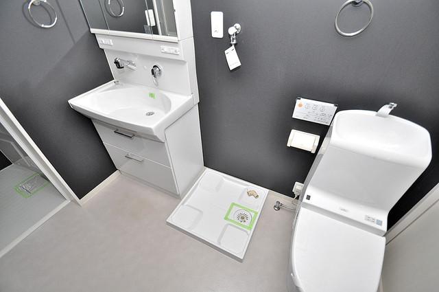 アプローゼ 室内洗濯機置場だと終了音が聞こえて干し忘れを防げますね。