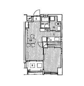 ピアハウス3階Fの間取り画像
