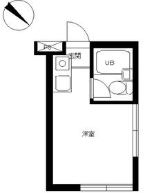 スカイコート品川31階Fの間取り画像
