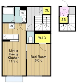 レガーメ横山2階Fの間取り画像