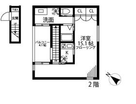 Atelier K(アトリエK)2階Fの間取り画像