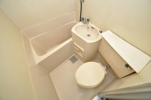 小路東ハイツⅡ 単身さん向けのバス・トイレ・洗面がセットになっています。