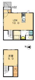 ドミトリーノ駒沢S1-2階Fの間取り画像