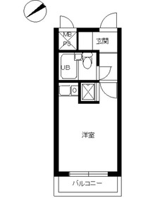 スカイコート横浜弘明寺1階Fの間取り画像