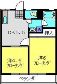 柴田ガーデンハイツD棟1階Fの間取り画像