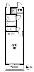 ポンデロッサ鶴見21階Fの間取り画像