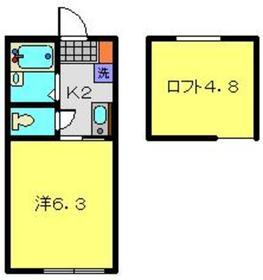 フルール横濱2階Fの間取り画像