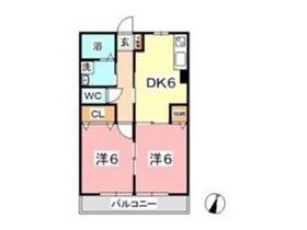 コンコード中帯江1階Fの間取り画像