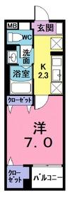 アクセスワン志木3階Fの間取り画像