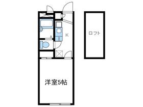 レオパレスIZMⅠ1階Fの間取り画像