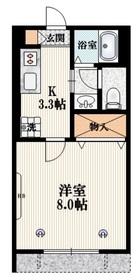 メゾンルミエール1階Fの間取り画像