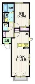 (仮称)古千谷本町2丁目計画1階Fの間取り画像