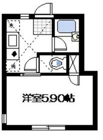 新丸子駅 徒歩9分2階Fの間取り画像