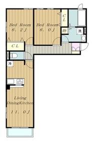 メゾンエミネール2階Fの間取り画像