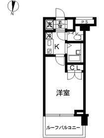 スカイコート東京ベイ東雲4階Fの間取り画像