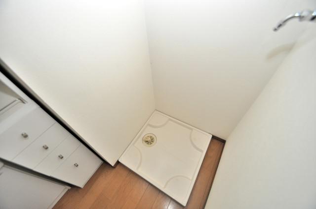 フレンディー 嬉しい室内洗濯機置場。これで洗濯機も長持ちしますね。