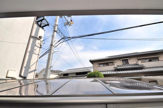 クリエオーレ稲田本町 この見晴らしが日当たりのイイお部屋を作ってます。