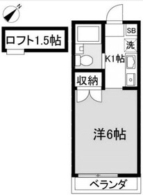 マイコーポ多摩美(マイコーポタマミ)1階Fの間取り画像