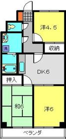 日吉本町駅 徒歩13分2階Fの間取り画像