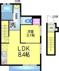 ピュアメゾン K2階Fの間取り画像