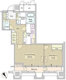 MOMENTO SHIODOME16階Fの間取り画像