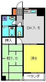 新堀マンション赤坂1階Fの間取り画像