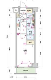 スカイコートグレース新宿中落合2階Fの間取り画像