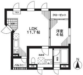 ダイチアパートメント南小岩3階Fの間取り画像