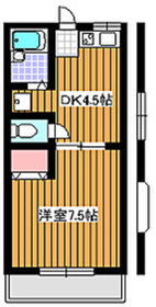 成増駅 徒歩5分1階Fの間取り画像