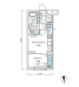 コスモグラシア中野南台1階Fの間取り画像