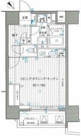 サンクレイドル横濱9階Fの間取り画像