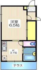 カーサ富ヶ谷1階Fの間取り画像