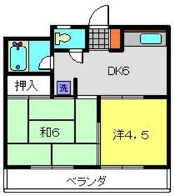 宮川マンション2階Fの間取り画像