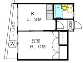 ベルポアン瀬田2階Fの間取り画像