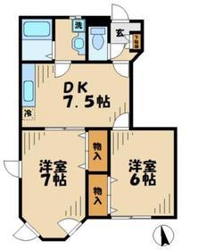 相模大野駅 徒歩20分1階Fの間取り画像