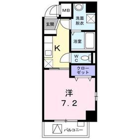 モデルノ レジデンス7階Fの間取り画像