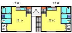プラザ滝頭Ⅲ2階Fの間取り画像