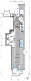 トモヤレジデンス蔵前8階Fの間取り画像