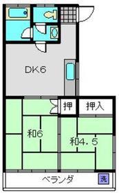 川端ビル2階Fの間取り画像