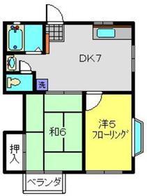 ビックオレンジ鶴ヶ峰2階Fの間取り画像