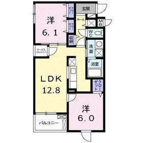 川崎駅 バス9分「南加瀬交番前」徒歩3分2階Fの間取り画像