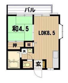パナハイツ弘明寺2階Fの間取り画像