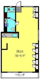 跡地マンション2階Fの間取り画像