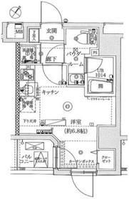 レーヴ横浜蒔田フェルクルール2階Fの間取り画像