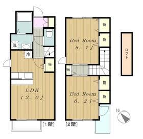 ポラリス2号館1階Fの間取り画像