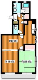 ウエストハイム1階Fの間取り画像