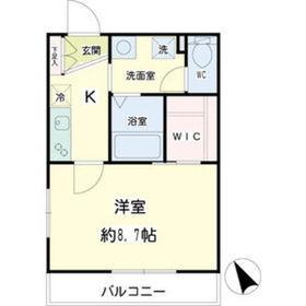 ステラマリス横浜21階Fの間取り画像