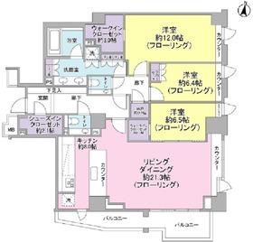 ザ・パークハウスグラン麻布仙台坂3階Fの間取り画像